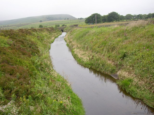 Catchwater drain off Blackmoorfoot Road, Meltham