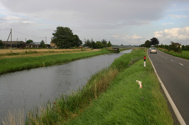 Bank farm over the old course of the river Nene