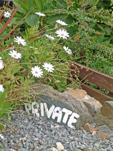 Private sign, Church Cove