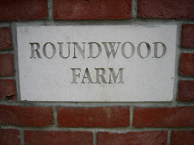 Smart new entrance to Roundwood Farm