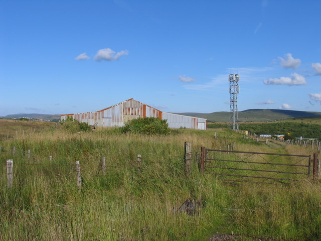 Mobile phone mast & former railway