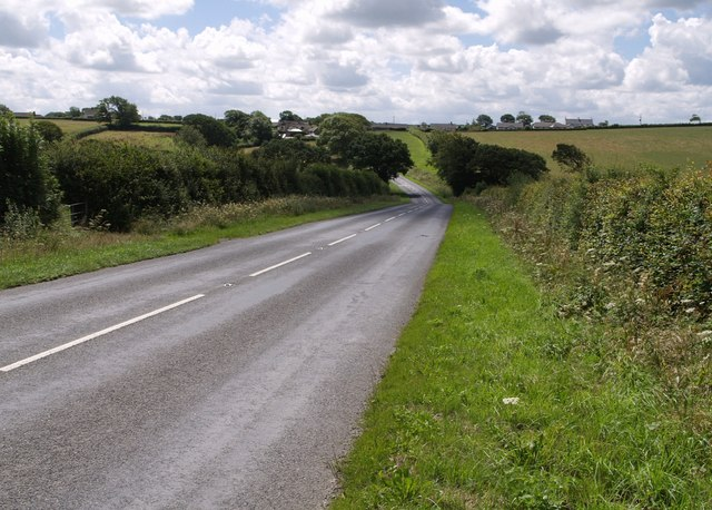 B3254 near Langdon Cross