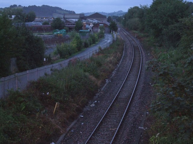 Railway line heading East