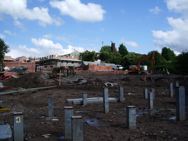 New housing on the site of Chapelfield Mill