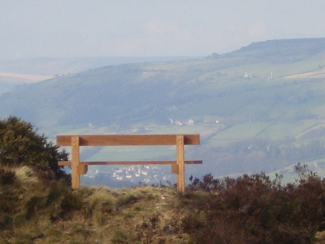 'Erics' Bench and the Calder Valley