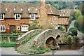SS9046 : Allerford: the pack-horse bridge by Chris Downer