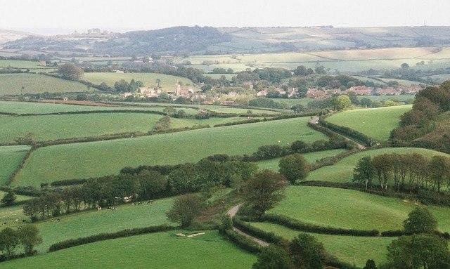 Broadwindsor: view from Pilsdon Pen