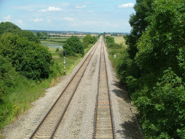 Railway line from Chepstow to Gloucester