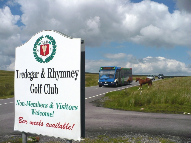 Tredegar & Rhymney Golf Club Sign