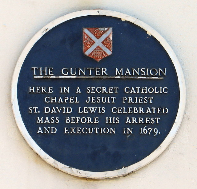 Abergavenny - plaque on the Gunter House