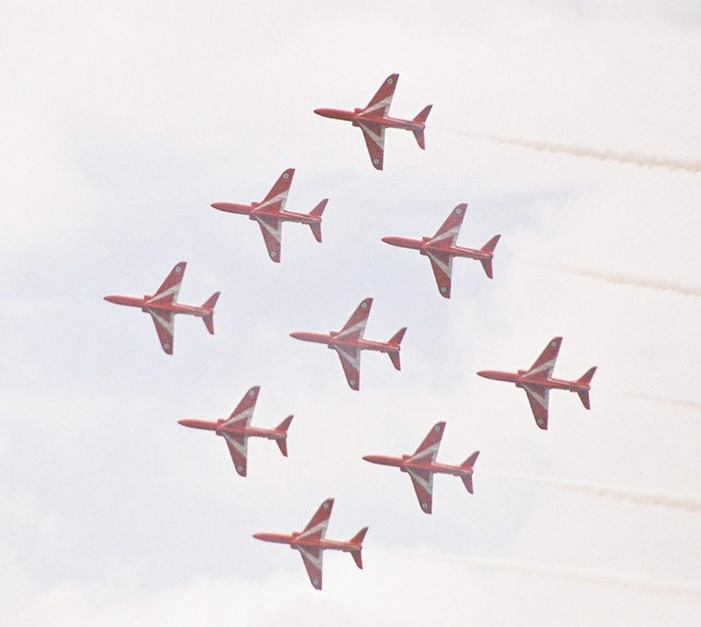 The Red Arrows' annual visit to Bournemouth