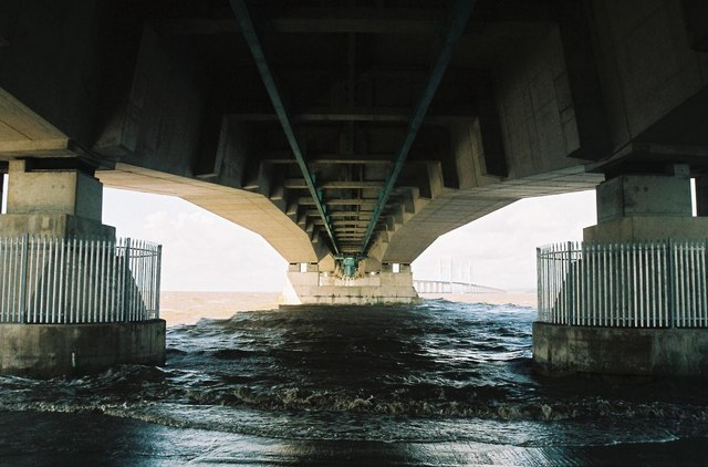 Under the Second Severn Crossing