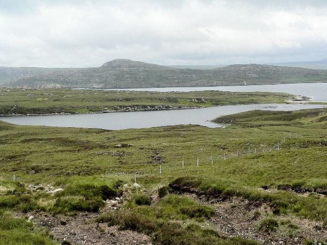 Isthmus between Loch Sian and Bagh Loch Sian