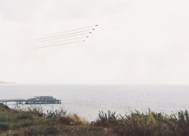 Red Arrows over Boscombe pier