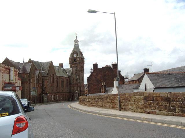 Bridge Street looking toward Lockerbie Town Hall