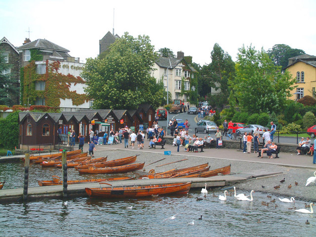 Rowing boats at Bowness on Windermere
