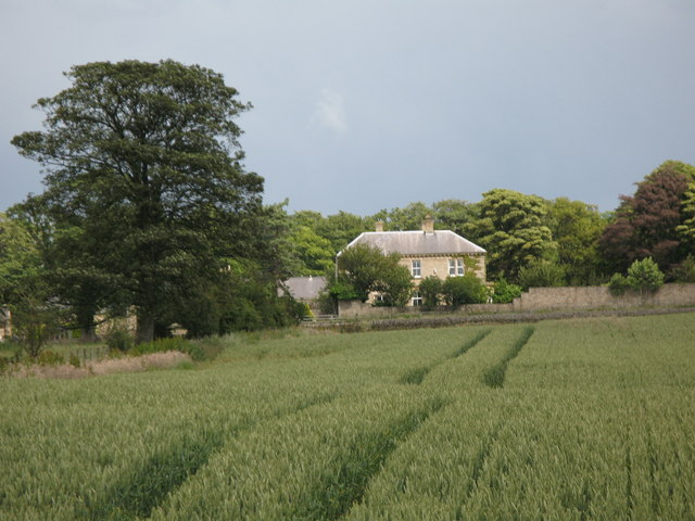 Highclear, surrounding arable land and woods