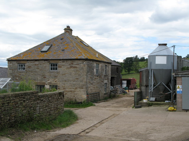 Farm buildings and silo at Palm Strothers