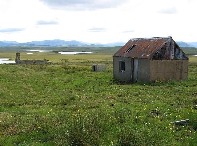 Ruined buildings at Acha Mòr