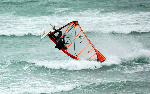 Windsurfer at  Mount's Bay