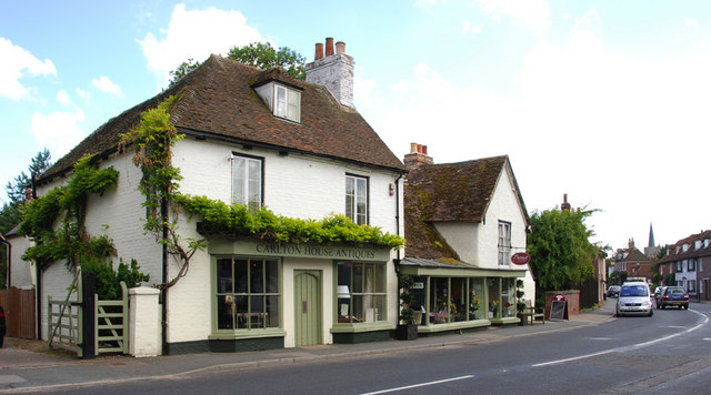 Shops in the High Street Wingham, Kent