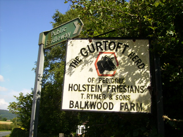 "Sign ""The Gurtoft Herd"" adjacent to A170 road"