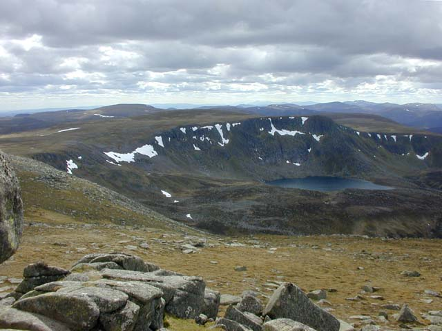 View south west from Cac Carn Beag