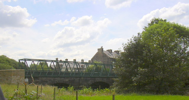 Foot and Road Bridge over the River Irwell Stubbins