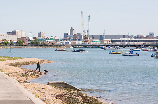 Bridge between Stamshaw and Whale Island, Portsmouth
