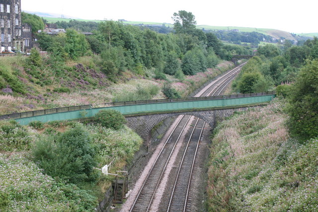 River Roch aqueduct over the Lancashire and Yorkshire railway
