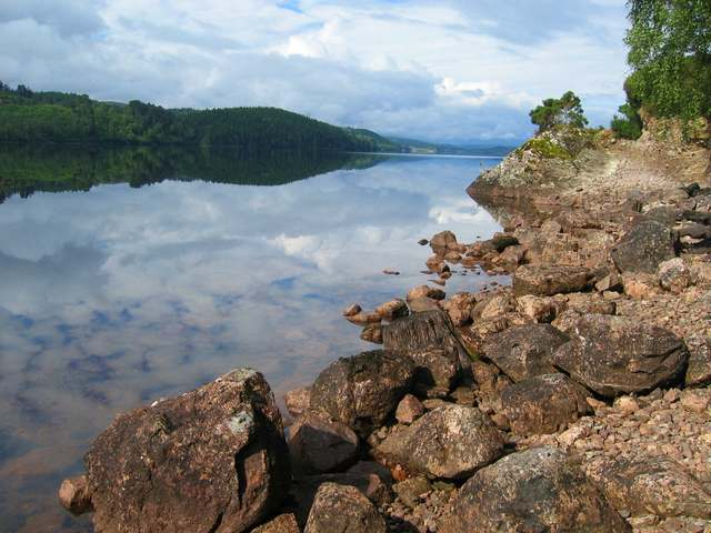 Shoreline of Loch Garry