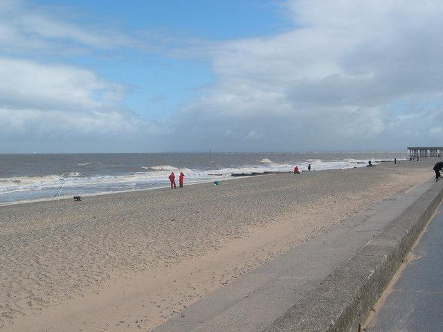 Fleetwood Beach with Fishermen