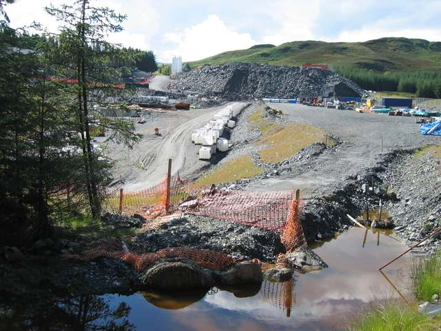 Construction work for the Glendoe Hydro-electric Scheme