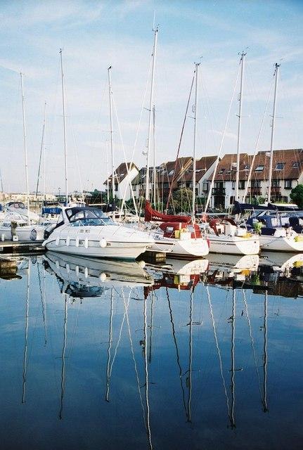 Hythe: yachts in the marina