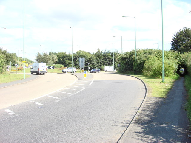 Roundabout on the A134