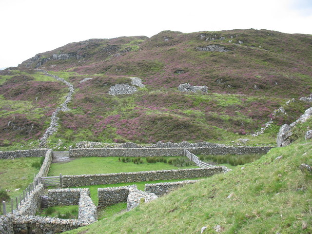 A work of art - a modern stone built sheepfold at Bwlch Goriwaered