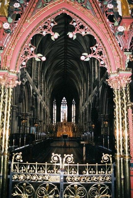 Lichfield Cathedral: interior