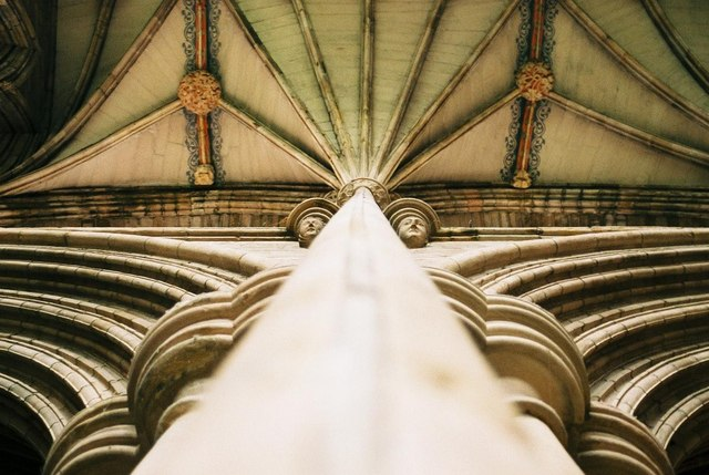 Lichfield Cathedral: column detail