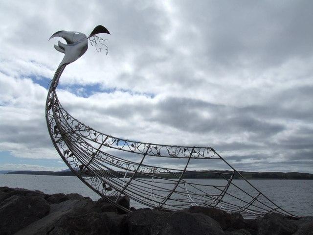 Viking Ship Sculpture, Largs