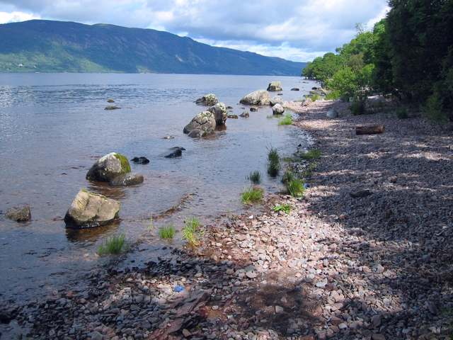 Beach on Loch Ness