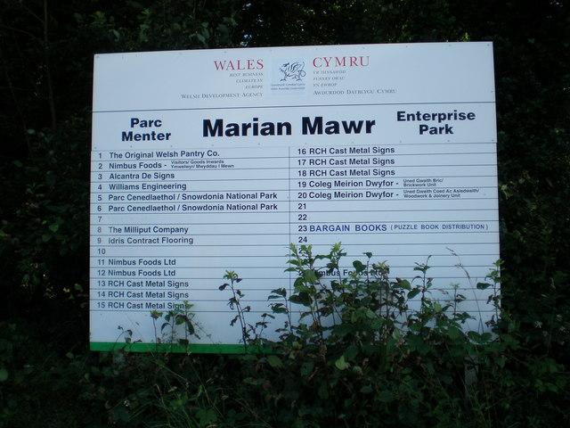 Marian Mawr Enterprise Park.