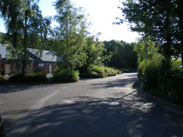 Looking down the estate road, Marian Mawr.