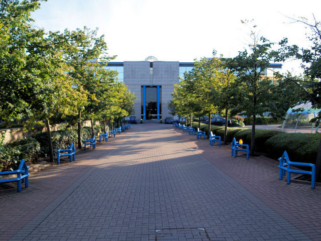 Main entrance to the centre.