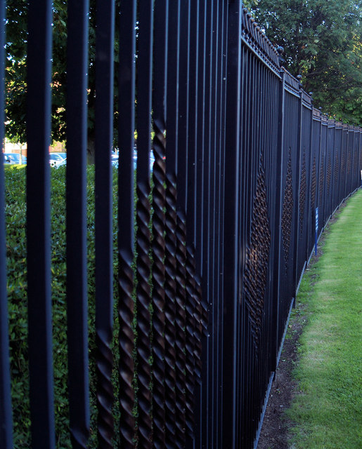 Car park security fencing.