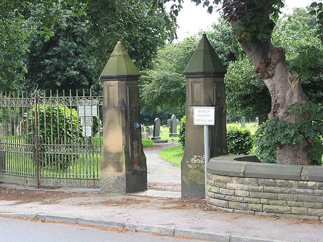 Entrance to Stanley Cemetery