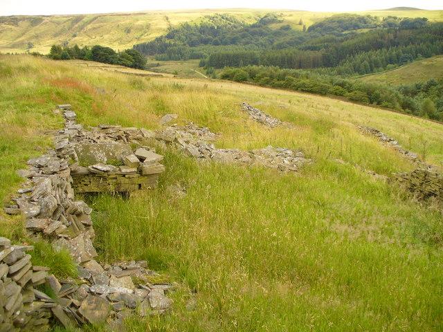The site of Strange Clough Farm