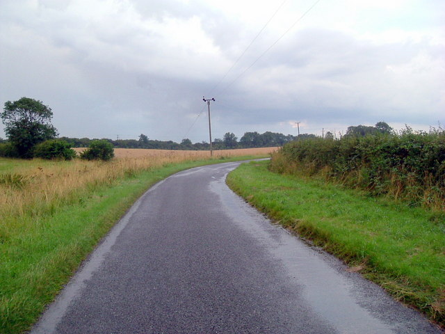 Road near Catworth Lodge