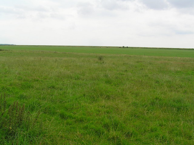 View across the fields to the dyke