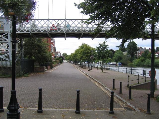 The Groves and Suspension Bridge
