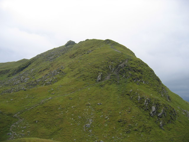 Steep descent from Meall Garbh